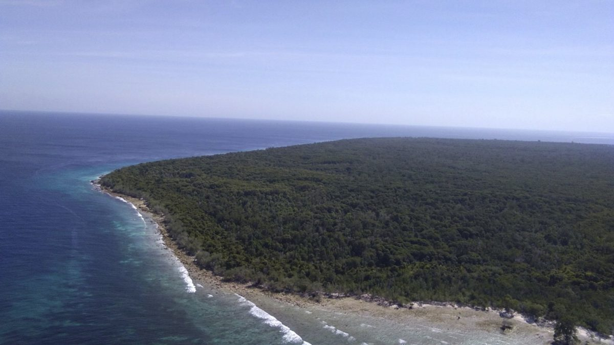 island where an Indonesian hostage was held