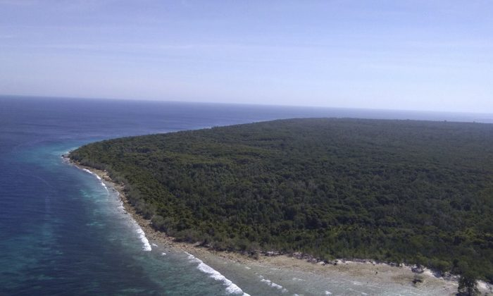 The island where an Indonesian hostage held by Islamic extremists was rescued by Philippine troops in Sulu province in southern Philippines, on April 5, 2019. (WestMinCom Armed Forces of the Philippines via AP)