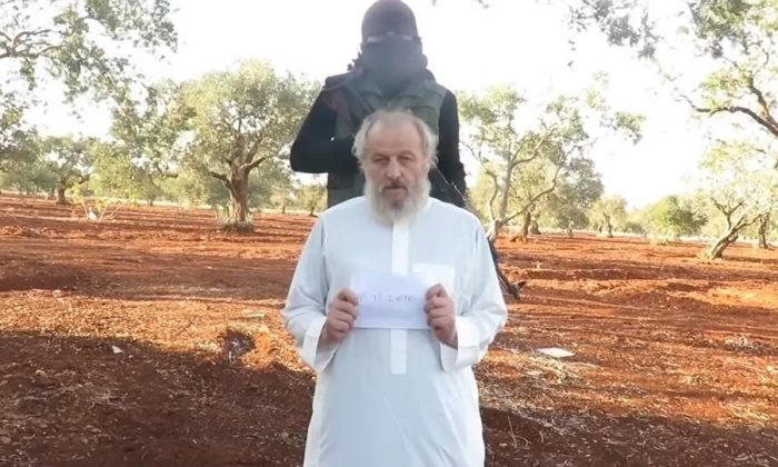 Sergio Zanotti in an ISIS ransom video.