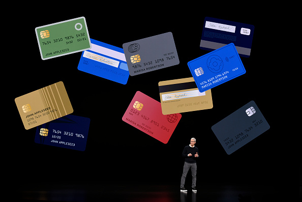 Apple CEO Tim Cook during a company product launch event at the Steve Jobs Theater at Apple Park in Cupertino, Calif., on March 25, 2019. Michael Short/Getty Images