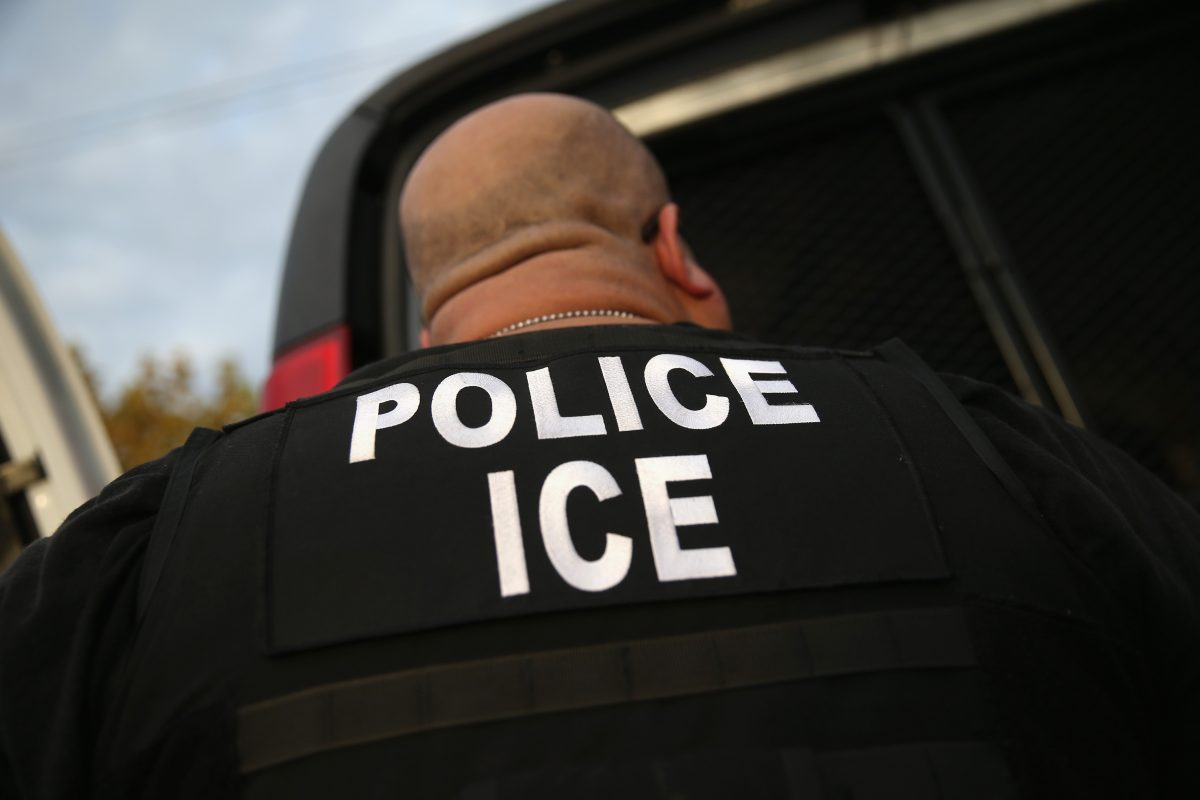 ICE agent arrests illegal alien