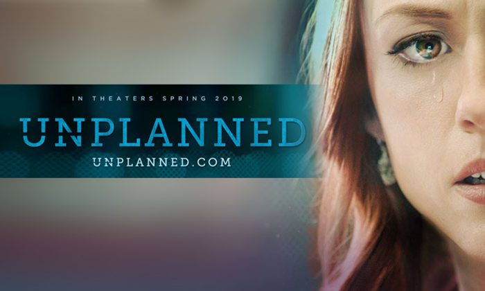 "A poster for ""Unplanned,"" a film about former Planned Parenthood clinic director Abby Johnson. (Courtesy unplannedfilm.com)"