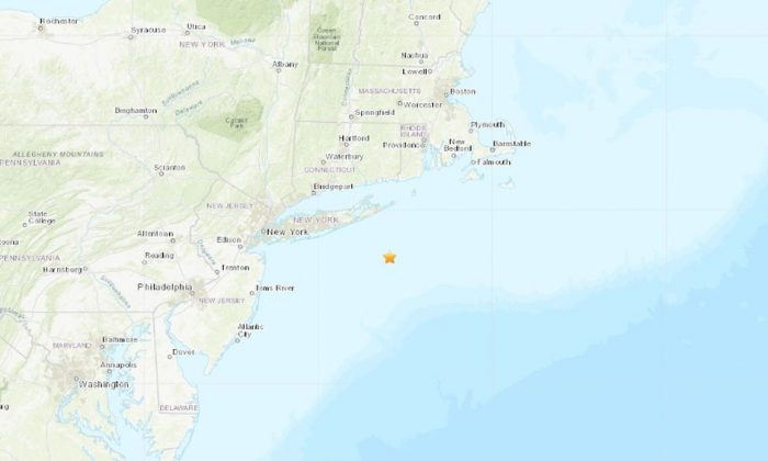 A 3.0-magnitude earthquake earthquake struck off the coast of Long Island, New York. (USGS)