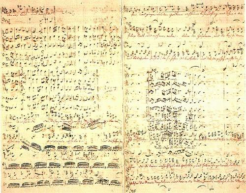 Bach's St. Matthews manuscript