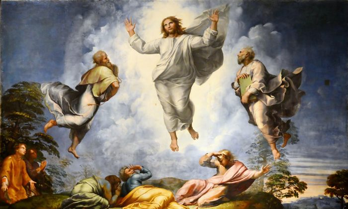 """Easter has captured composer's imagination through the centuries. A detail from """"The Transfiguration,"""" 1520, by Raphael, in the Pinacoteca Vaticana. (CC BY-SA 4.0)"""