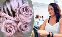 Stylist Creates Braided Rose Hairstyle From Ordinary Locks in Honor of Late Grandma