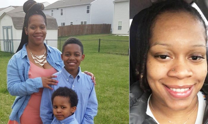 An undated photo of missing Najah Ferrell, 30, with her two children in Avon, Ind. (Courtesy of Avon Indiana Police Department)