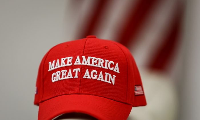 A Make America Great Again (MAGA) hat, on Jan. 22, 2019. (Samira Bouaou/The Epoch Times)