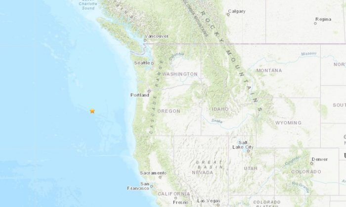 The quake hit at around 7:11 a.m. west of Florence, Oregon, with a depth of 6.2 miles. (USGS)