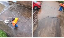 Jet Washing Removes Years of Dirt in Seconds, Leaves Viewers Stunned