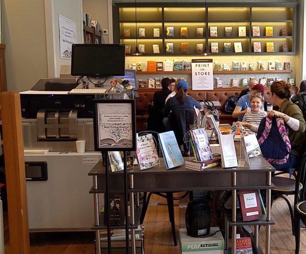 The Espresso Book Machine at Shakespeare & Co. bookstore, Broadway