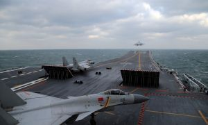 China Sails Military Carriers Through Taiwan Strait as Taiwan Election Campaign Picks up Pace