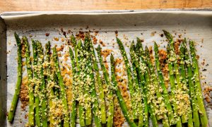 A Crispy, Cheesy Upgrade for Roasted Asparagus