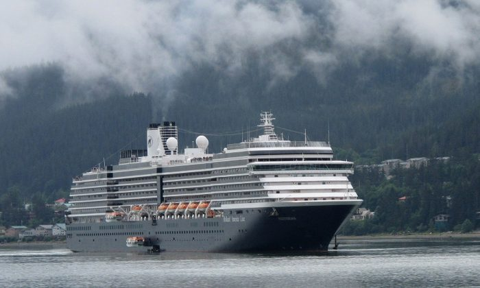 The Holland America Westerdam is shown in Juneau, Alaska, on Aug. 29, 2011. (Becky Bohrer/AP Photo)