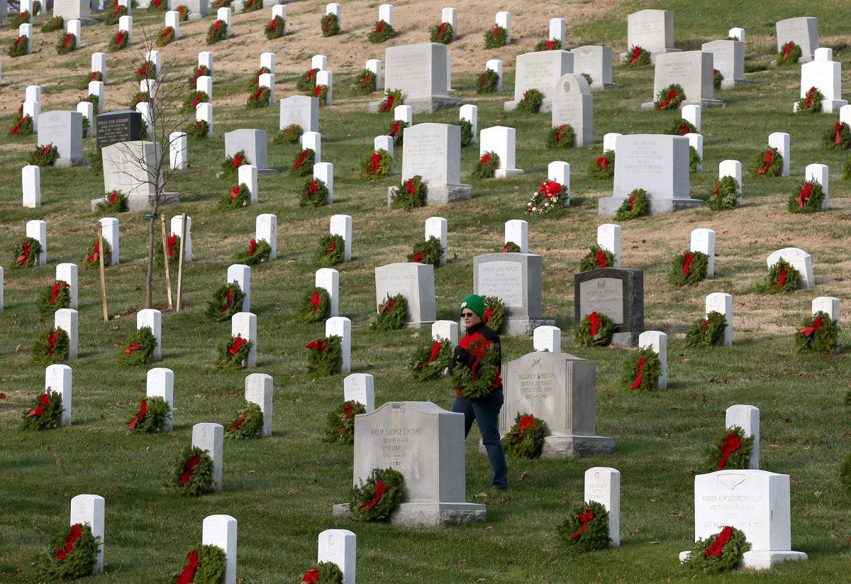 Arlington National Cemetery Lays Wreaths Ahead For Holiday Season