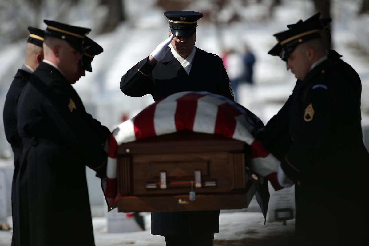 Burial Service For WWII Airman Held At Arlington National Cemetery