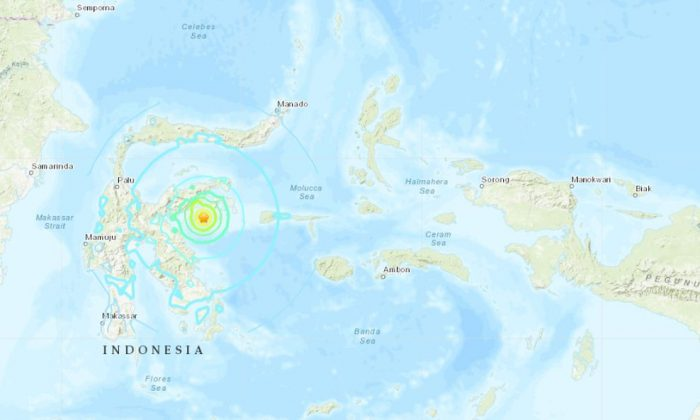 The earthquake sparked fears of a tsunami on April 12. (USGS)