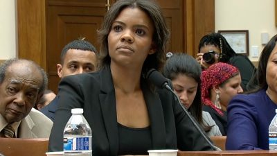Candace Owens appears before a House Judiciary Committee hearing on hate crimes and white nationalism, in Washington, on April 9, 2019. (screenshot via CNN)