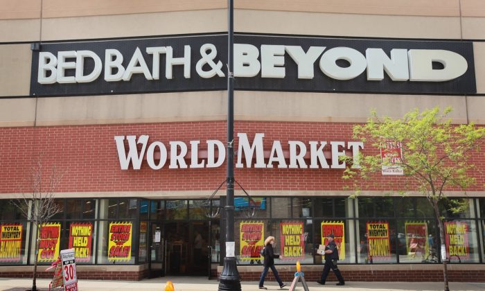 Retailers Bed Bath & Beyond and World Market in Chicago, Illi. on May 9, 2012. (Scott Olson/Getty Images)