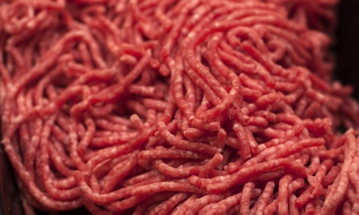 Ground beef is displayed for sale at a market in Washington state on April 1, 2017. (J. Scott Applewhite/AP Photo)