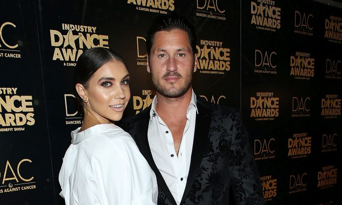 Jenna Johnson (L) and Valentin Chmerkovskiy attend the 2018 Industry Dance Awards at Avalon Hollywood on Aug. 15, 2018 in Los Angeles.  (Phillip Faraone/Getty Images)