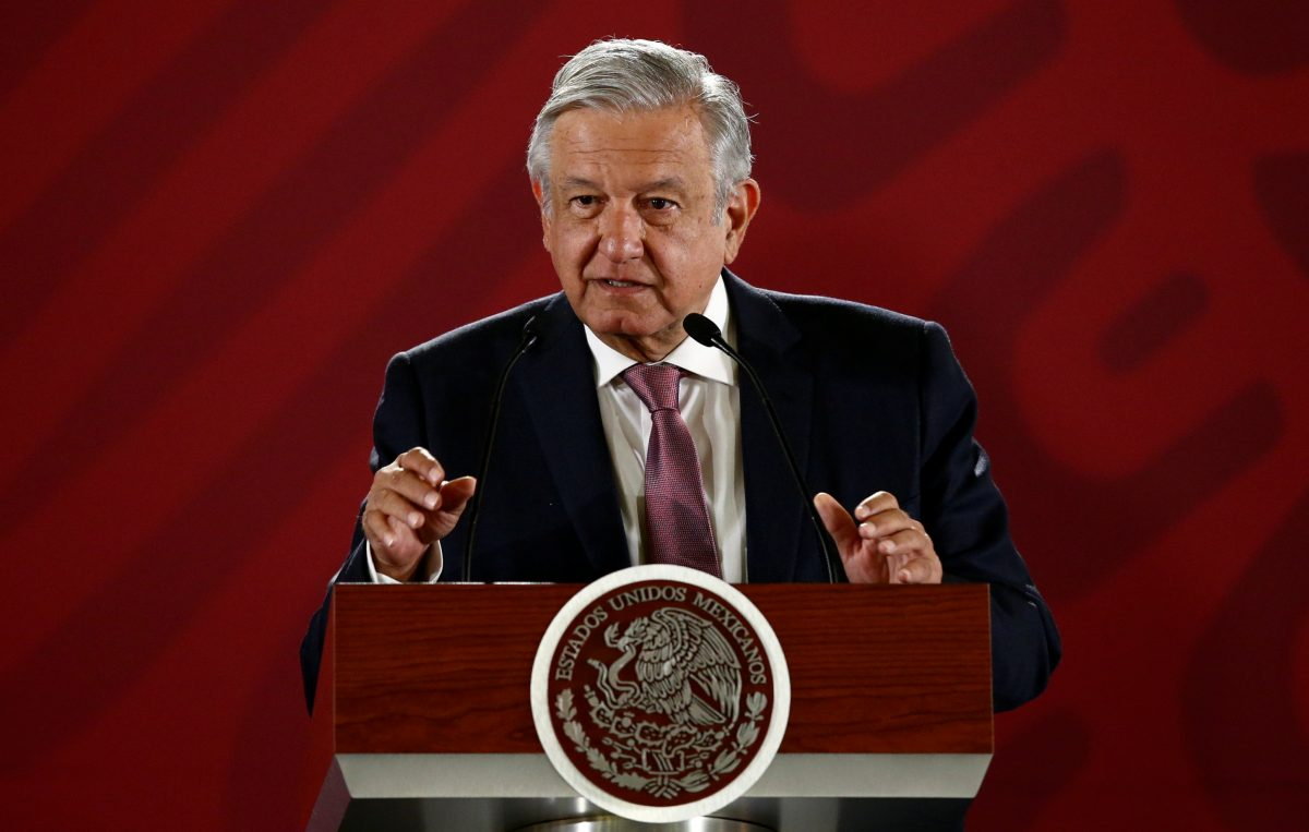 Obrador speaks at news conference
