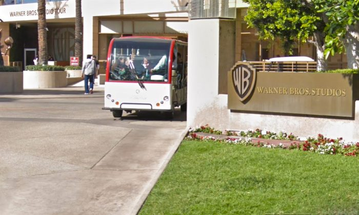 The entrance to Warner Bros Studios in Burbank Calif., in February 2018. (Google Maps Street View)