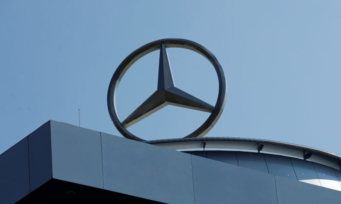 A Mercedes Benz logo is pictured at a Mercedes Benz branch in Stuttgart, Germany on April 15, 2019.   (Ralph Orlowski/Reuters)