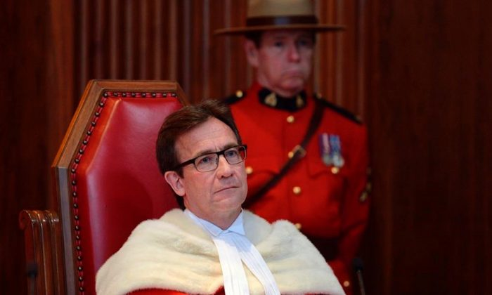 The official welcoming ceremony for Supreme Court of Canada Justice Clement Gascon at the Supreme Court of Canada in Ottawa on October 6, 2014. (Adrian Wyld/The Canadian Press)