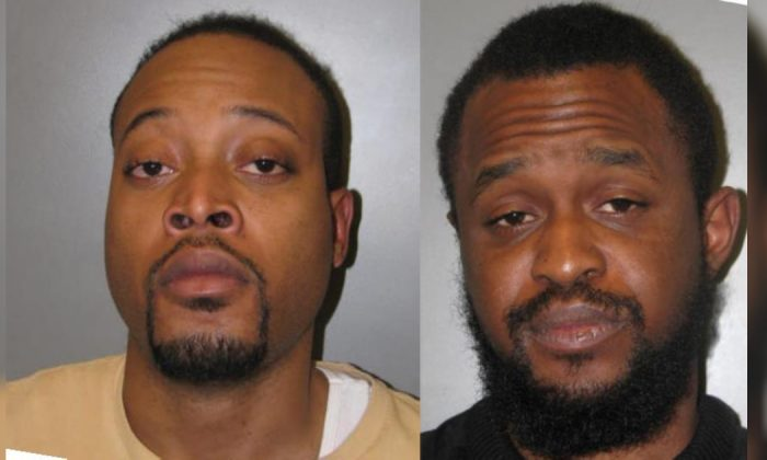 Germantown resident Jovan Crawford, 27, (L) and Washington DC resident Scott Roberson, 25, are suspected of attacking a man in Germantown, Md., on April 13, 2019. (Courtesy of Montgomery County Department of Police Fifth District)