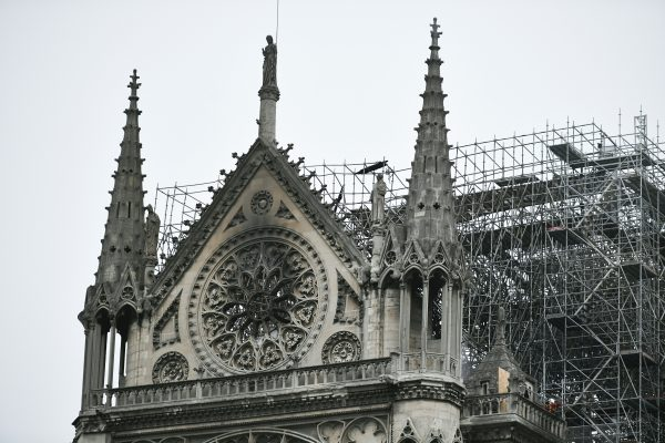 damage to outside of Notre dame