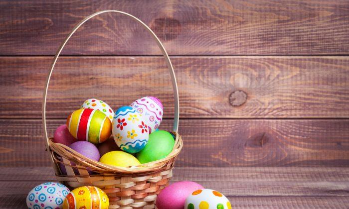 Easter basket fun. (Tiplyashina Evgeniya/shutterstock)