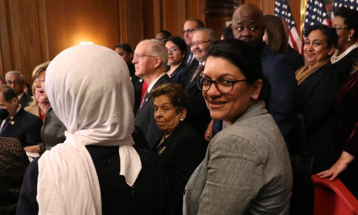 Rep. Rashida Tlaib (D-Mich.) in Washington on March 13, 2019. (Mark Wilson/Getty Images)