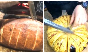 Man Cuts Open Bread Dough and Pumpkin-- What's Inside Will Make You Hungry