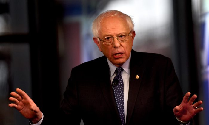 Democratic presidential candidate, U.S. Sen. Bernie Sanders (I-VT) participates in a FOX News Town Hall at SteelStacks in Bethlehem, Pa., on April 15, 2019. (Mark Makela/Getty Images)
