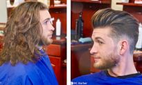Fast, Amazing Men's Hairstyle Transformation Caught on Tape