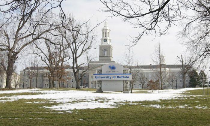 The University at Buffalo campus in Buffalo, N.Y.,  on Feb. 15, 2012 (David Duprey/File via AP)