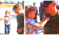 Marine Promoted by 3 Year Old in Heartwarming Video
