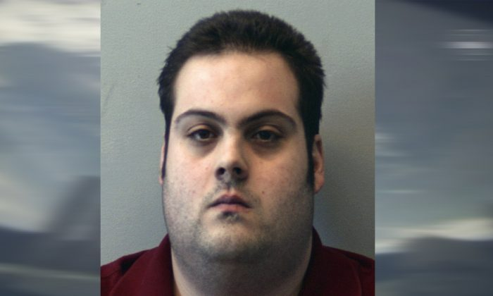 Daniel Frisiello, of Beverly, Mass., in this  booking photo released on March 1, 2018. (Beverly Police Department via AP, File)