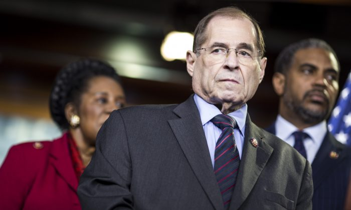 House Judiciary Committee Chairman Rep. Jerry Nadler (D-N.Y.) attends a news conference on April 9, 2019, in Washington. (Zach Gibson/Getty Images)