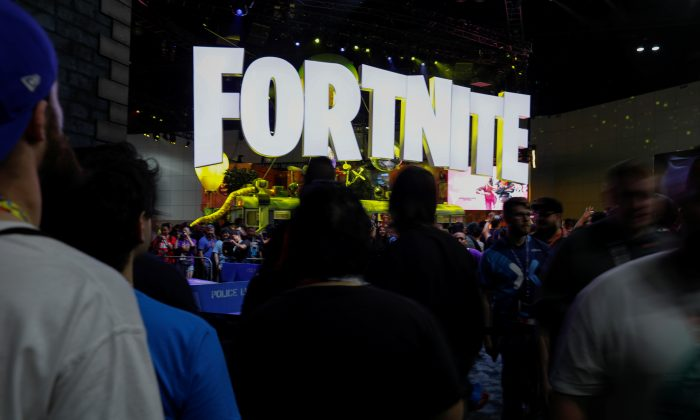 The Fortnite booth is shown at E3, the world's largest video game industry convention in Los Angeles, Calif,, U.S. June 12, 2018. (REUTERS/Mike Blake)
