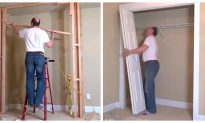The Breathtaking Transformation From Empty Space Into Walk-In Wardrobe!