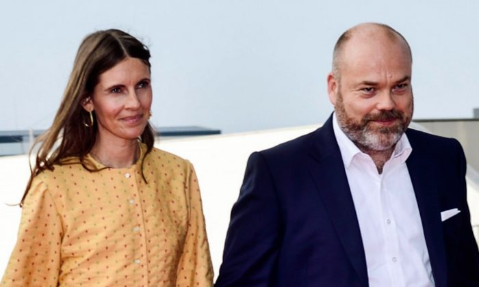 Bestseller-owner Anders Holch Povlsen and his wife Anne Holch Povlsen as they arrive at the celebration of the 50th birthday of Crown Prince Frederik of Denmark in Royal Arena in Copenhagen, Denmark, on May 27, 2018. (Tariq Mikkel Khan/AFP/Getty Images)