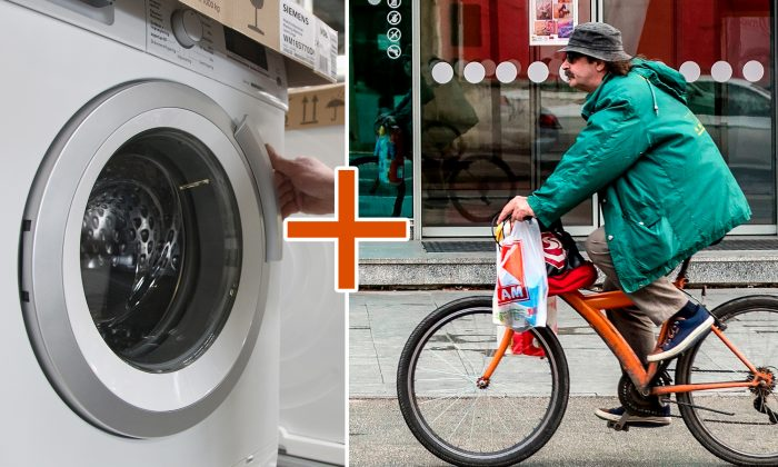 Bike Washing Machine >> Innovative Bike Washing Machine Combines Stationary Bike Exercise