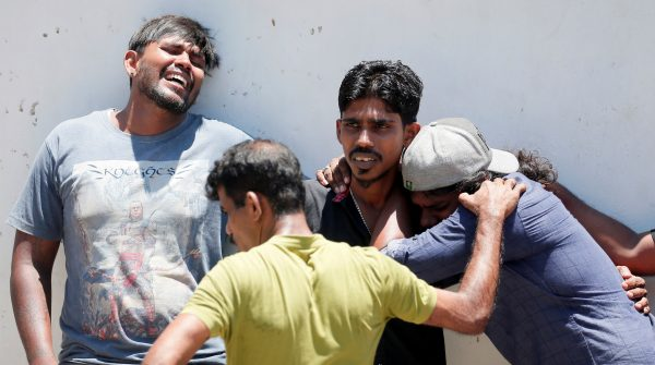 Relatives of a Sri Lanka bombing victims