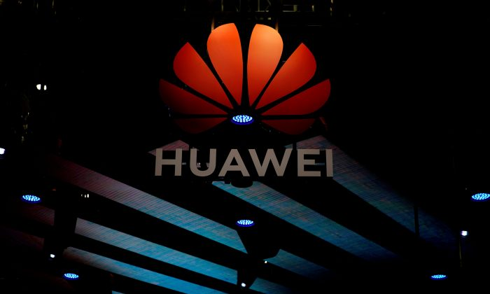 A Huawei logo is pictured during the media day for the Shanghai auto show in Shanghai on April 16, 2019. (Aly Song/Reuters)