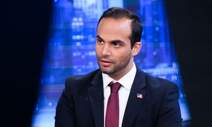 "George Papadopoulos visits ""The Story With Martha MacCallum"" at Fox News Studios in New York City on March 26, 2019. (Noam Galai/Getty Images)"