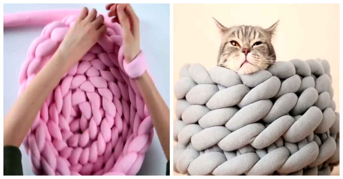Easy-To-Make Ohhio Braided Pet Bed Adds Comfort and Style to Any Home
