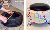 DIY Tire to Stool: It Takes Little to No Cost and It Looks so Comfortable