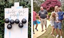 """'Let's Get Poppin"""": Video Shows Innovative Gender Reveal Party With Balloons and Darts"""